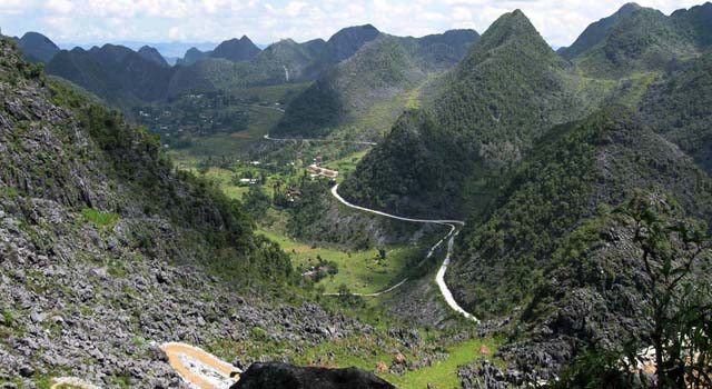 Karst landscape in Ha Giang