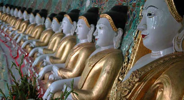 The deserted city of Sagaing