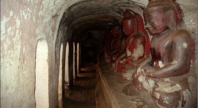 The caves of Po Win Daung