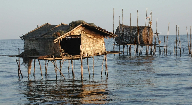 Floating villages on  Tonle Sap