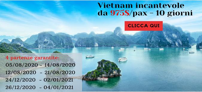 Vietnam incantevole da 975$/pax