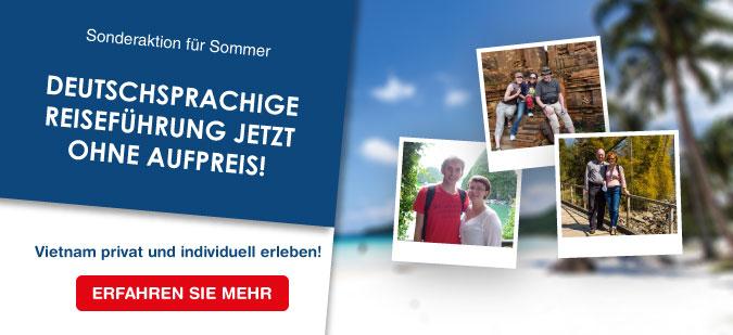Deutschsprachige Reiseführung ohne Aufpreis