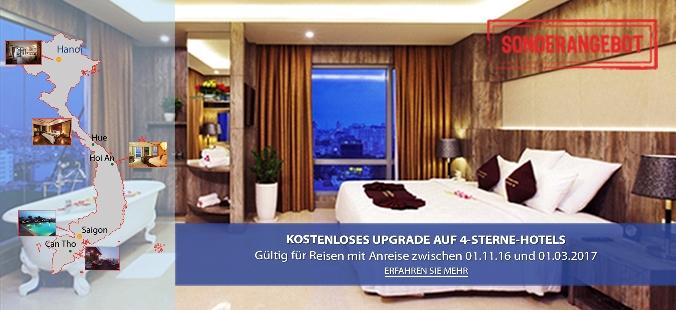 Kostenloses Upgrade auf 4-Sterne-Hotels 2017