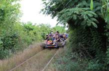 Train de bambou à Battambang
