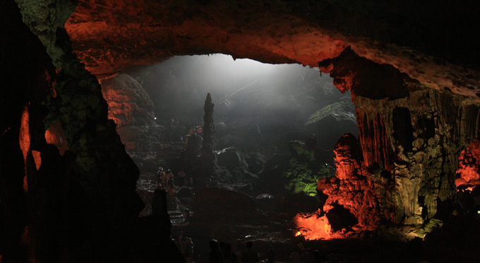 Visit the cave with magnificent stalagmites and stalactites