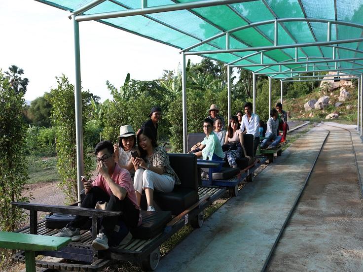 Treno di bamboo