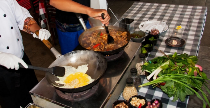 Lezione di cucina a Bali