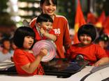 Great celebration around Vietnam after U23 victory in U23 AFC against Qatar