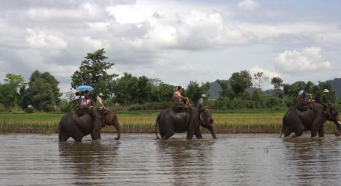 Elefantenreiten in Dak Lak