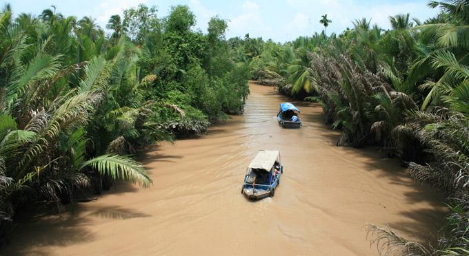 Flussarm im Mekong Delta
