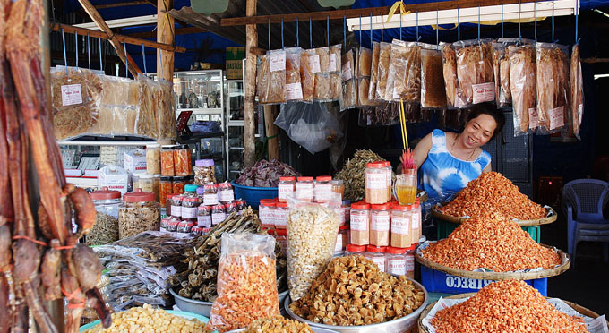 Lokaler Markt in Saigon