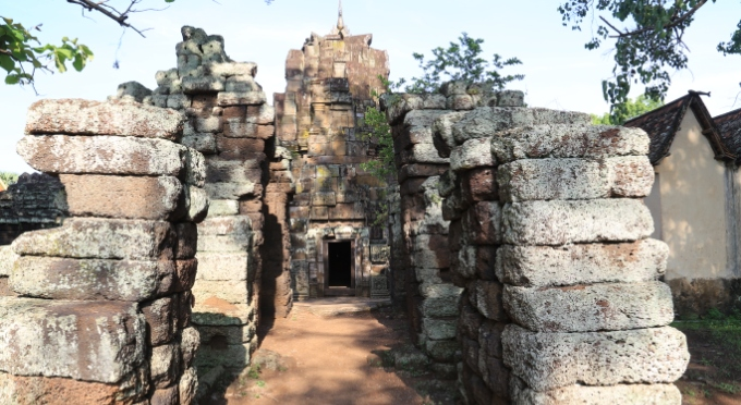 Ein antiker Tempel in Siem Reap