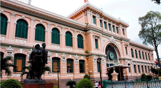 Zentralpost in der Ho Chi Minh Stadt
