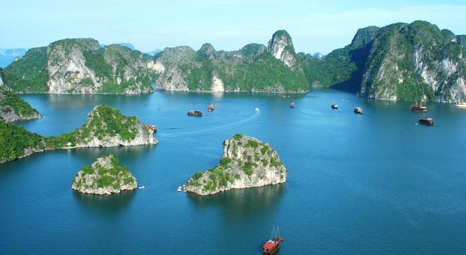 Die Halong Bucht