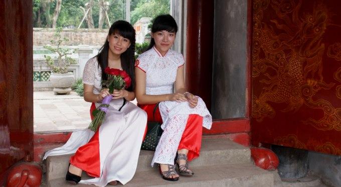 Mädchen in Ao Dai