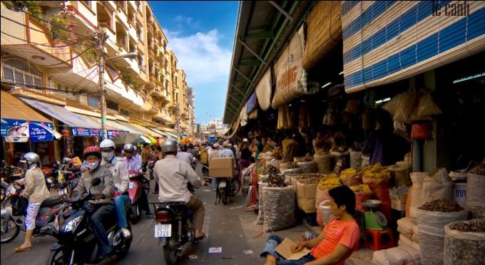 Markt im Saigon Stadtzentrum