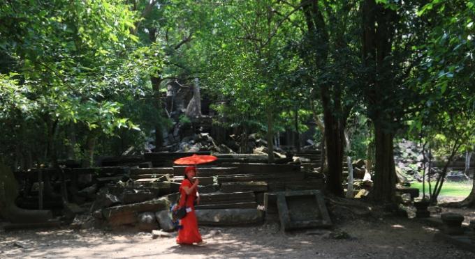 Antiker Tempel in Kambodscha