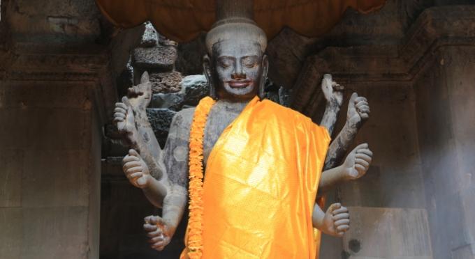 Buddhistische Statue in Angkor Wat