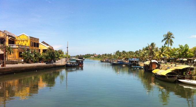Thu Bon Fluss in der Altstadt Hoi An