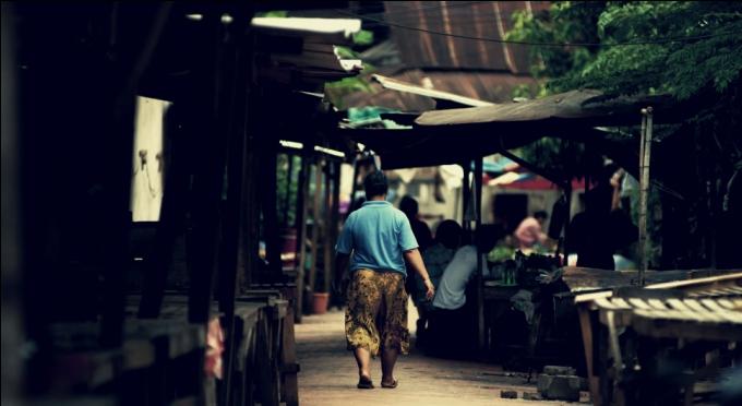 In einem lokalen Markt in Luang Prabang