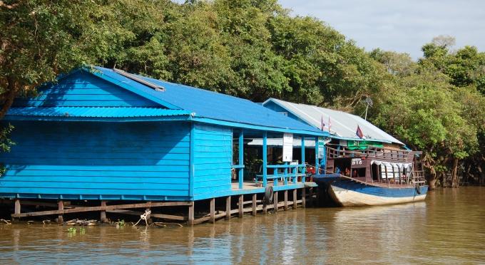 Das schwimmende Fischerdorf auf dem Tonle-Sap-See