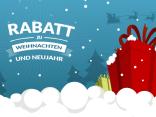 Rabatt zu Weihnachten und Neujahr